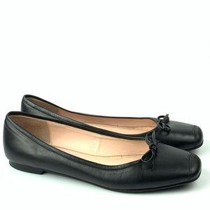Talbots ballet flats size 8.5 black leather career